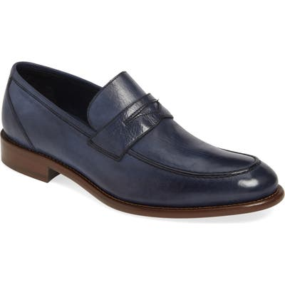J & m 1850 Bryson Penny Loafer, Blue