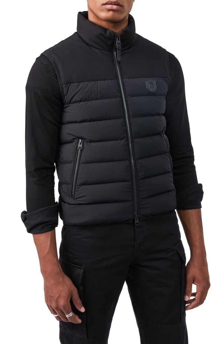 MACKAGE Liam Puffer Vest, Main, color, BLACK