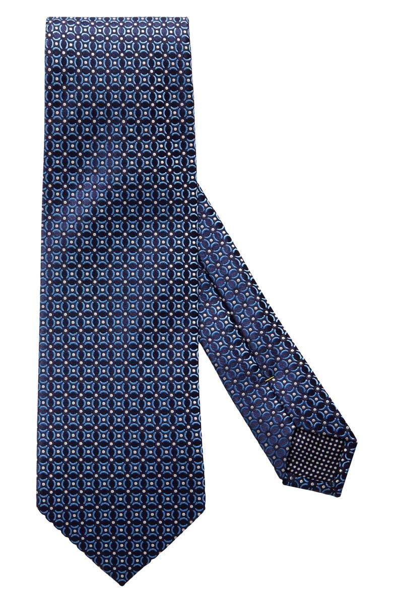 ETON Medallion Silk Tie, Main, color, BLUE
