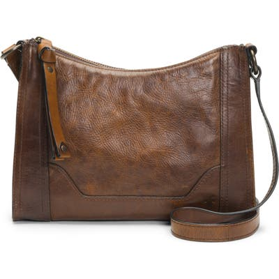 Frye Melissa Leather Crossbody Bag - Beige