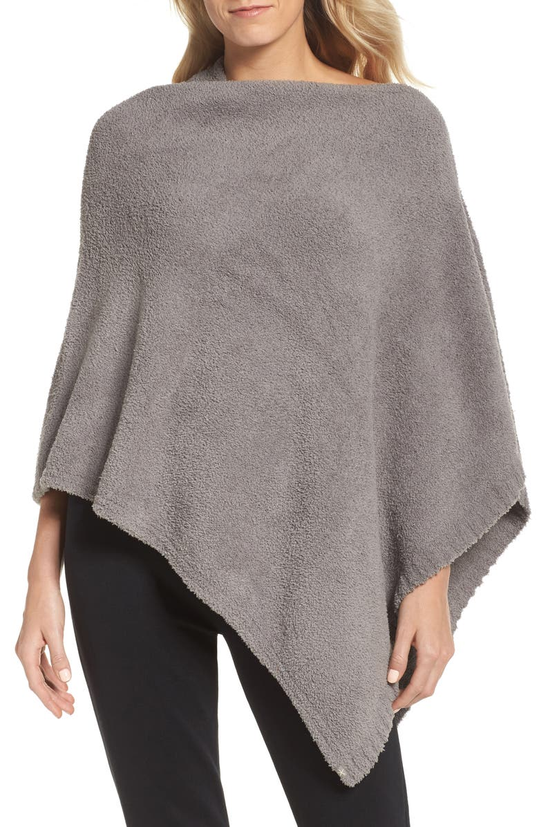 BAREFOOT DREAMS<SUP>®</SUP> Boatneck CozyChic<sup>®</sup> Poncho, Main, color, 020