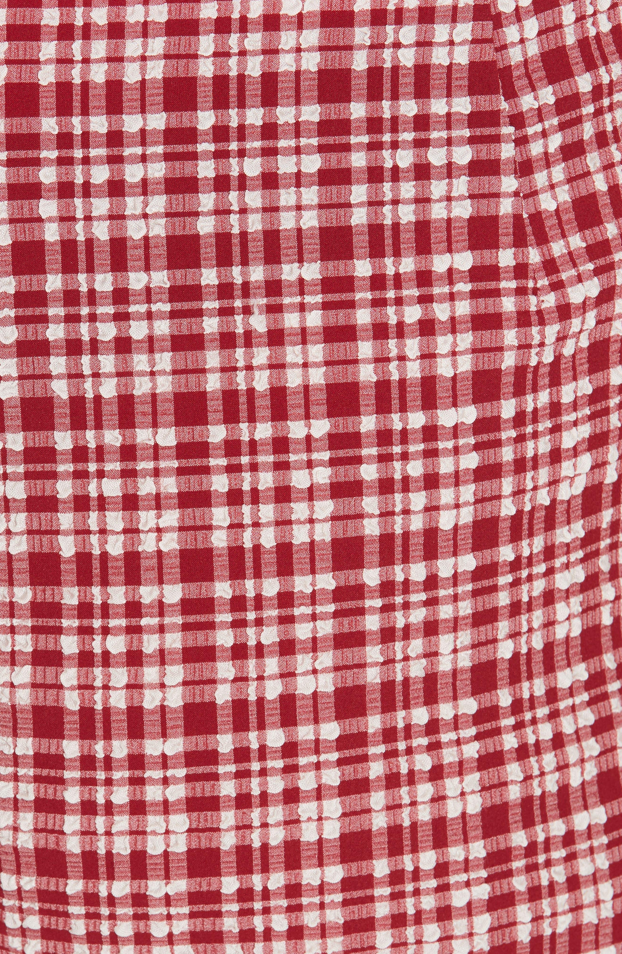 ,                             Westside Seersucker Crop Pants,                             Alternate thumbnail 5, color,                             CRIMSON