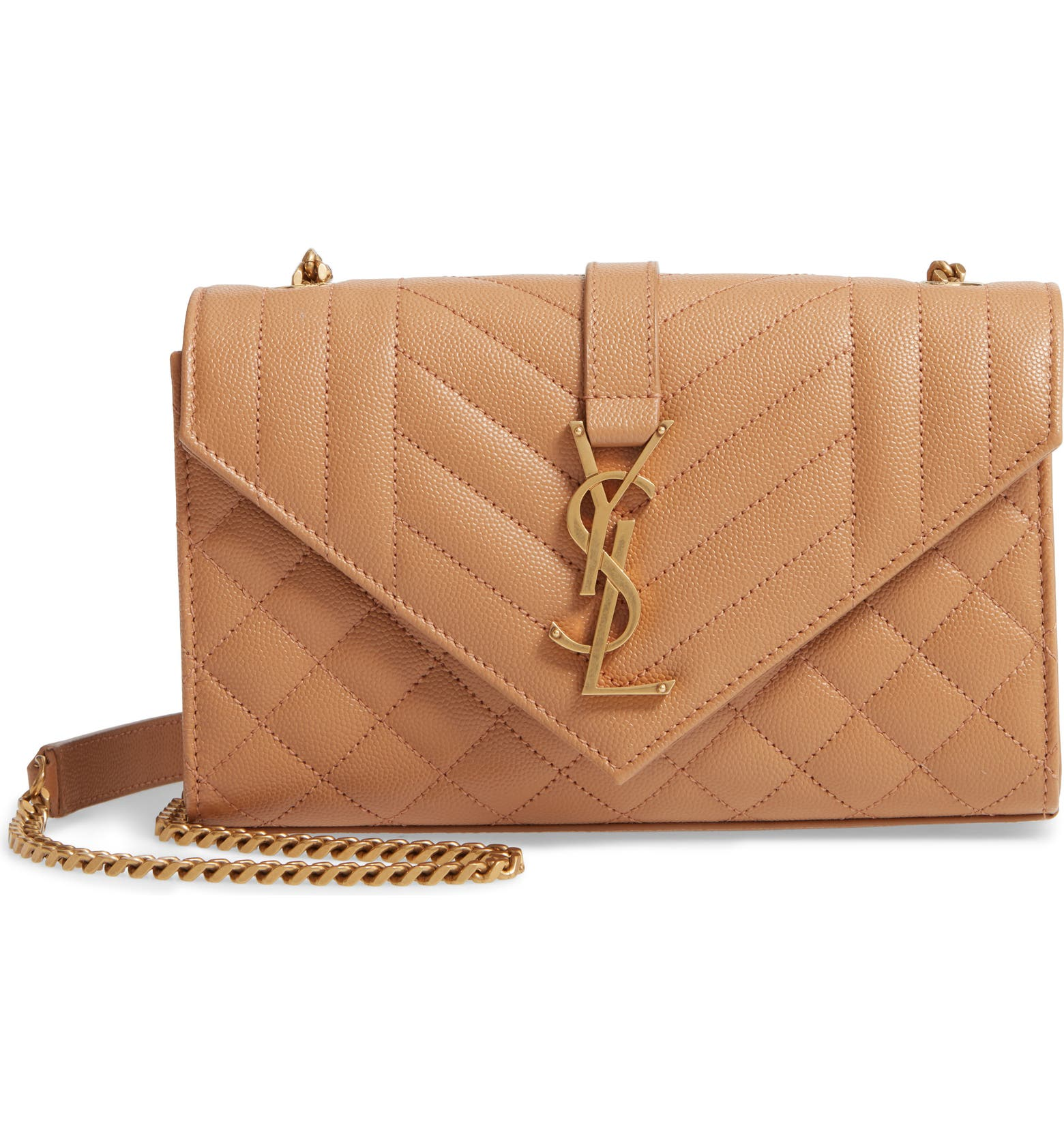 Small Monogramme Matelassé Quilted Calfskin Shoulder Bag SAINT LAURENT