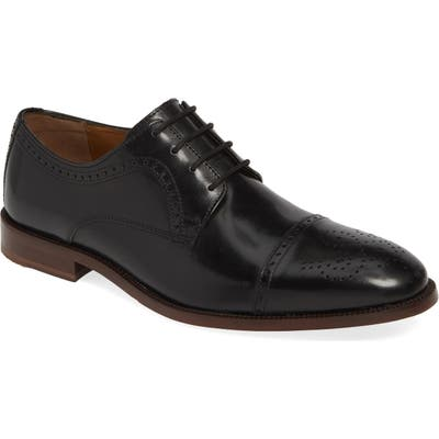 Johnston & Murphy Alredge Cap Toe Derby, Black