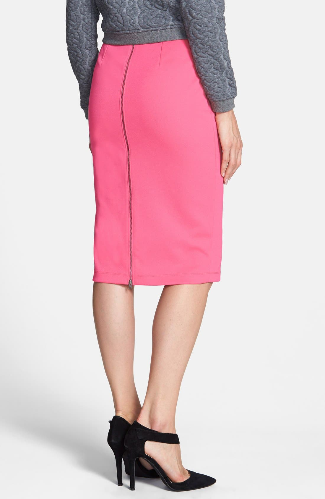 ,                             Zip Back Knit Pencil Skirt,                             Alternate thumbnail 20, color,                             660