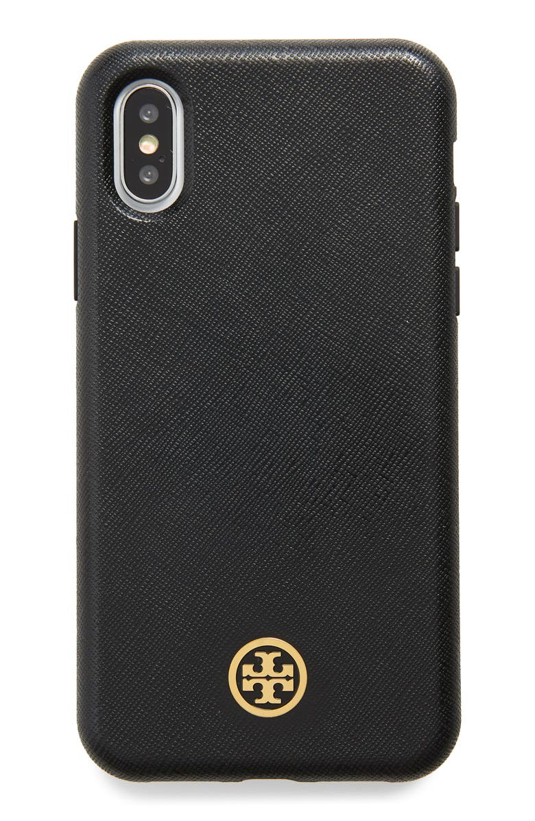 TORY BURCH Robinson iPhone X/Xs Case, Main, color, 001
