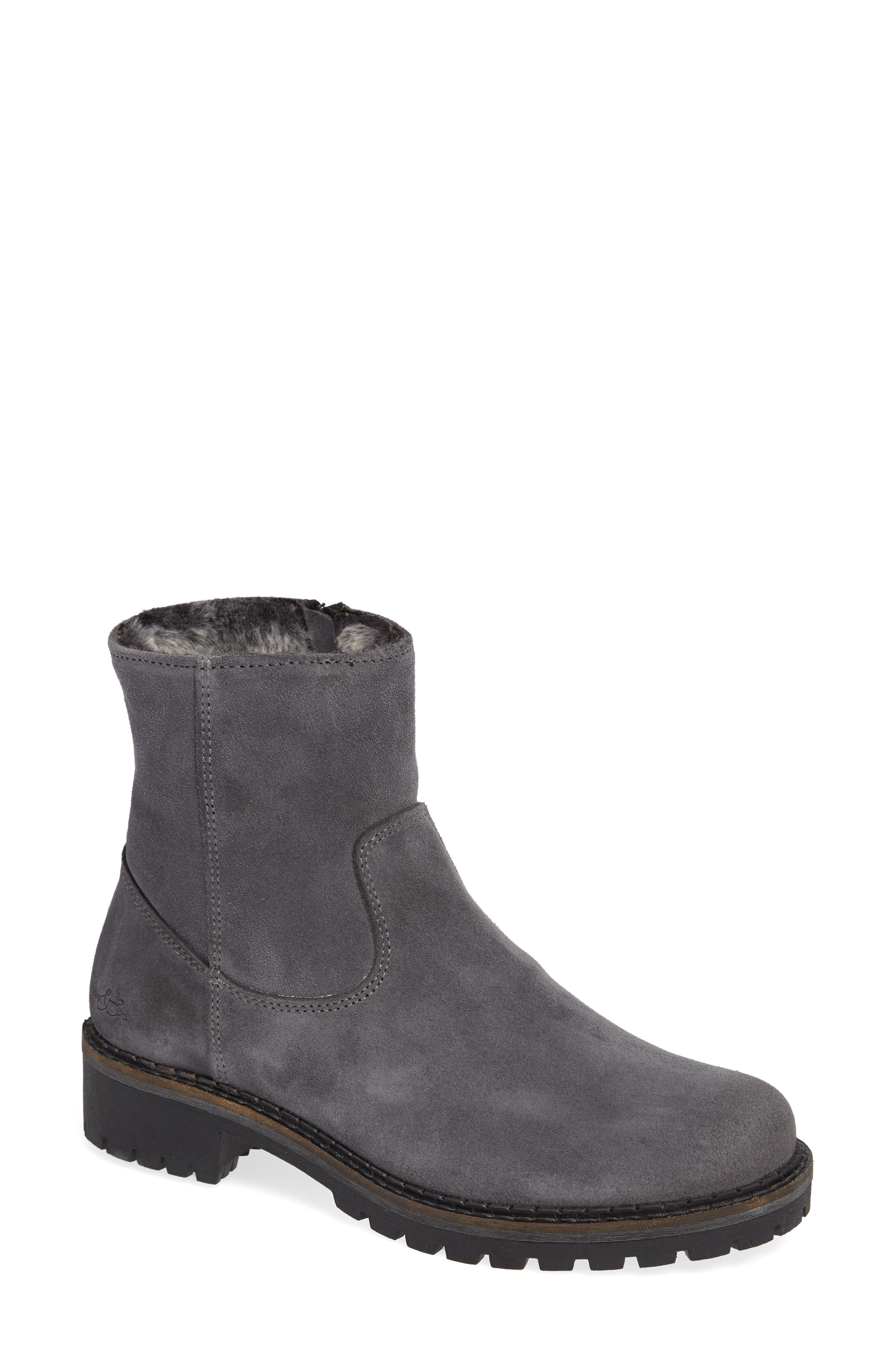 Bos. & Co. Host Faux Fur Lined Boot, Grey
