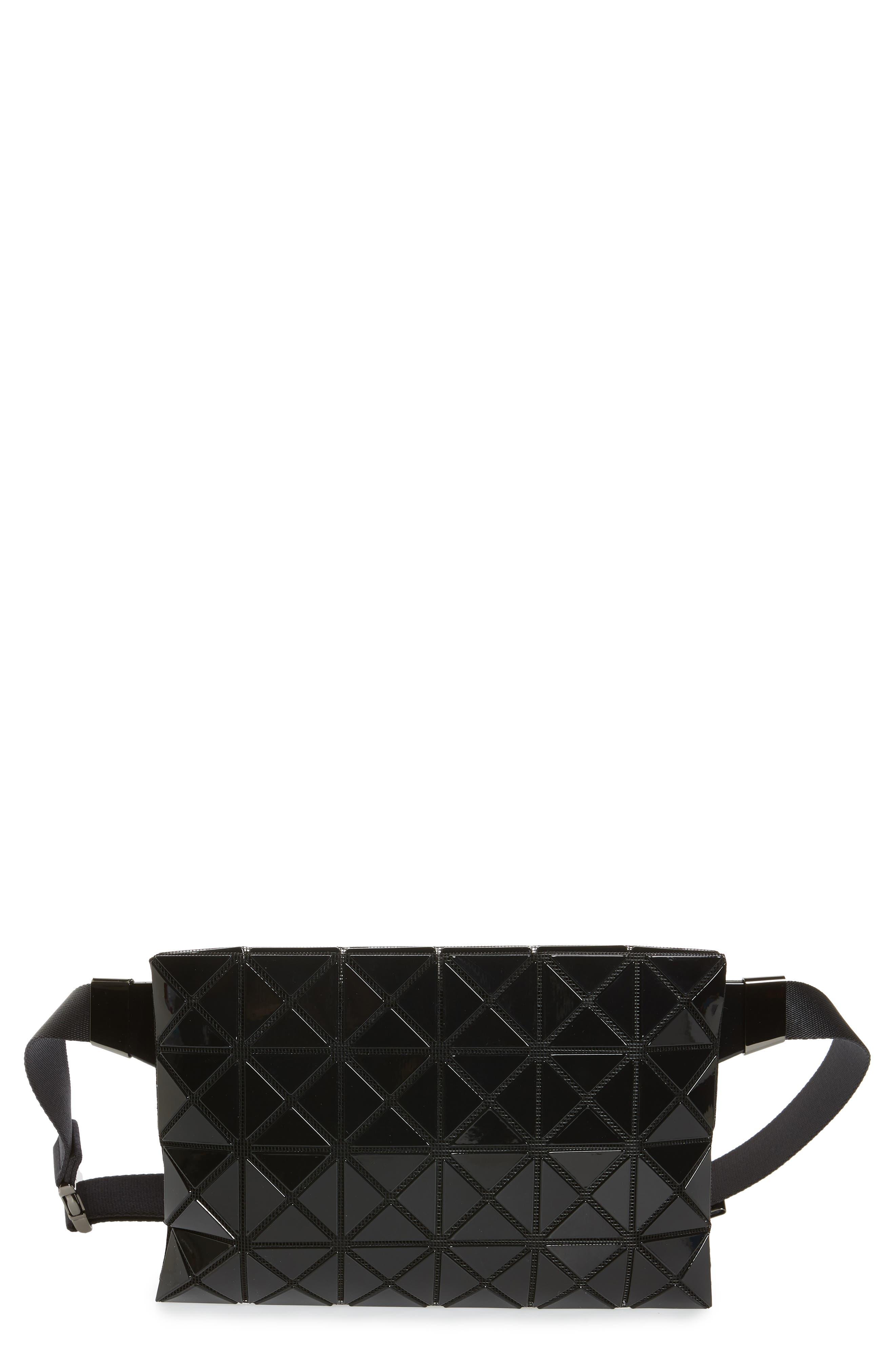 Prism Belt Bag, Main, color, JET BLACK