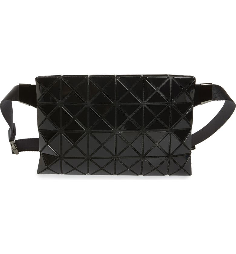 BAO BAO ISSEY MIYAKE Prism Belt Bag, Main, color, JET BLACK