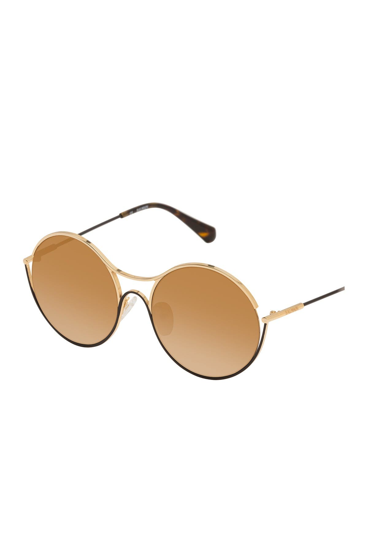 Image of Balmain 53mm Round Sunglasses