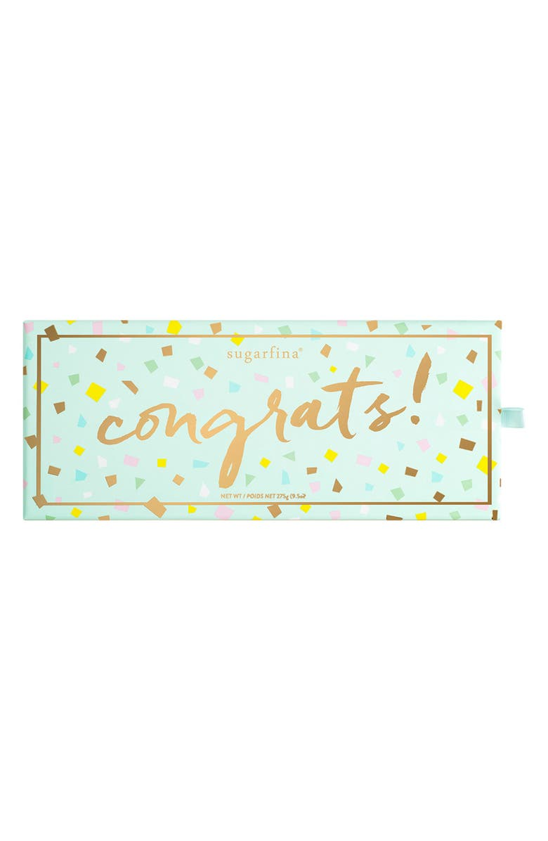 SUGARFINA Congrats 3-Piece Candy Bento Box, Main, color, BLUE