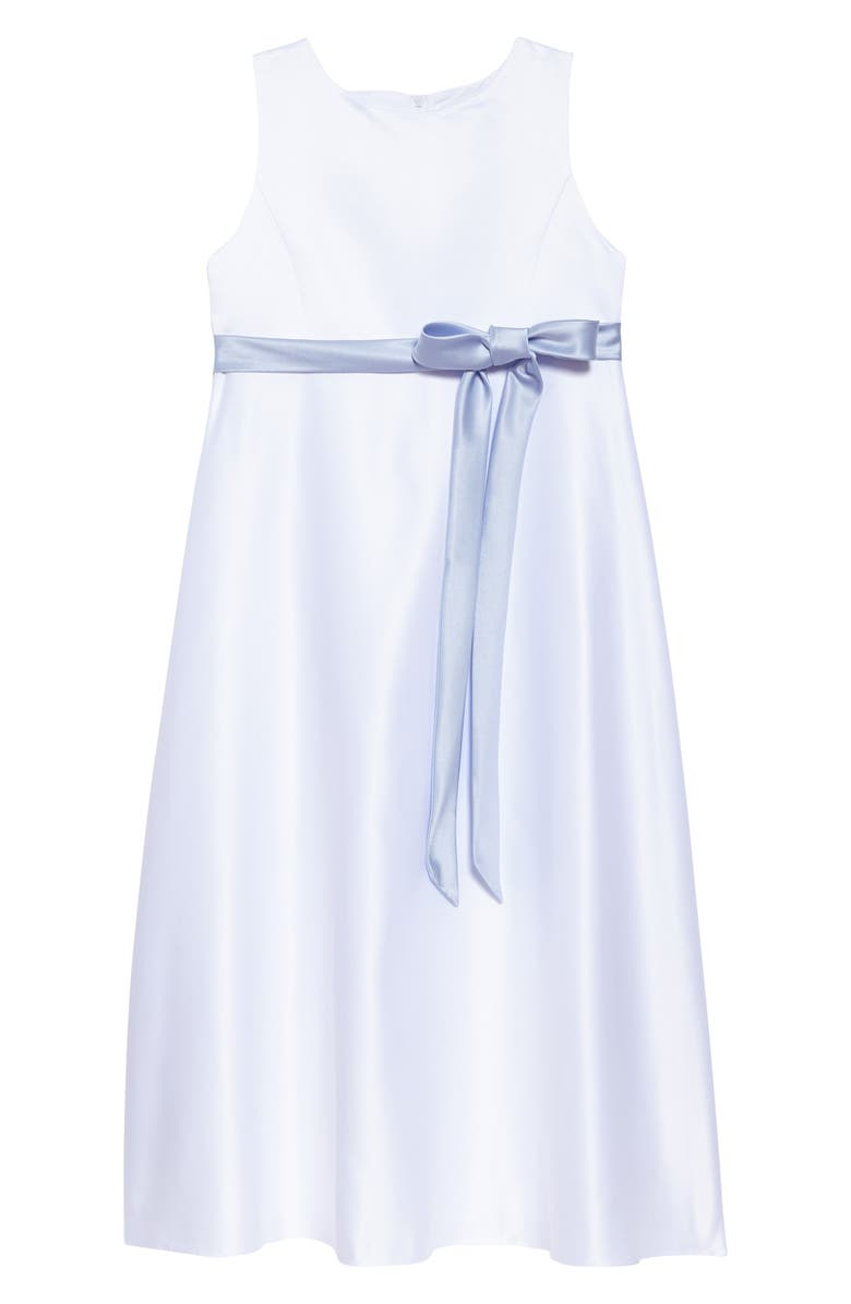 US ANGELS Sleeveless Satin Dress, Main, color, 402