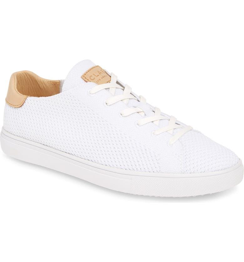 CLAE Bradley Sneaker, Main, color, WHITE FABRIC