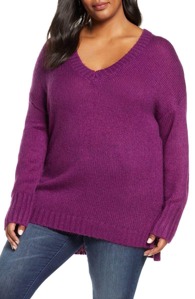 CASLON<SUP>®</SUP> V-Neck Sweater, Main, color, 501