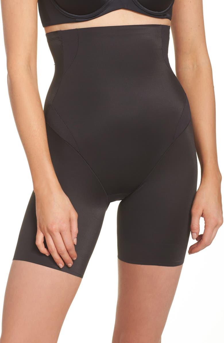 TC Cooling High Waist Thigh Slimmer, Main, color, BLACK