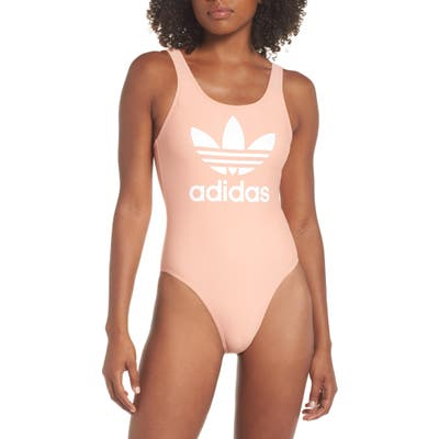 Adidas Tricot One-Piece Swimsuit, Pink