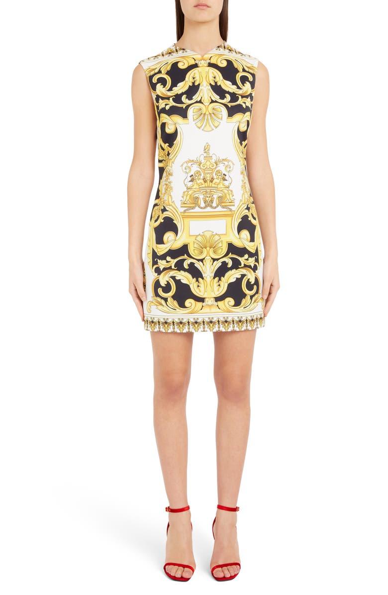 VERSACE Casa Print Minidress, Main, color, 700