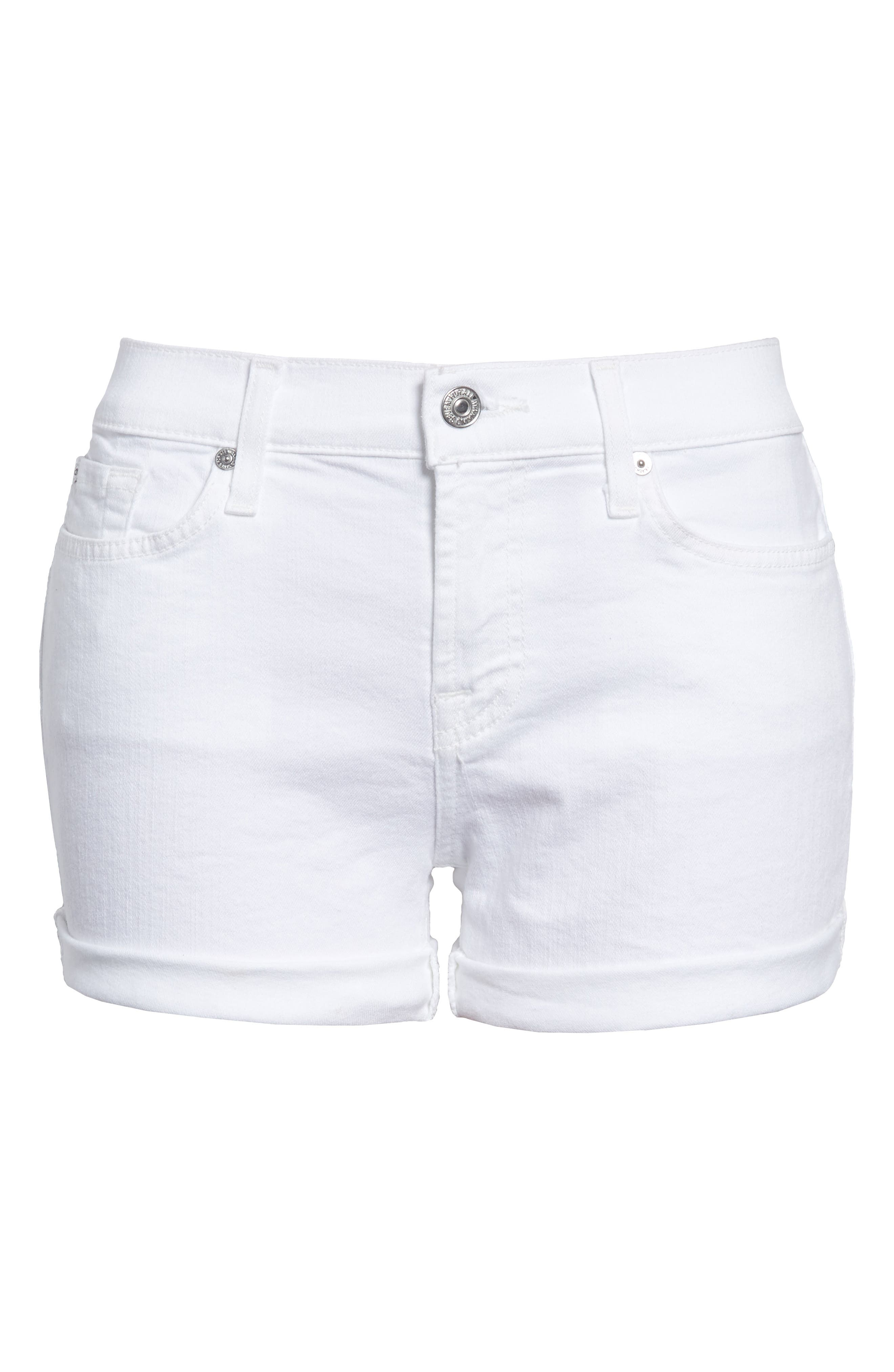 Women's 7 For All Mankind Cuffed Denim Shorts