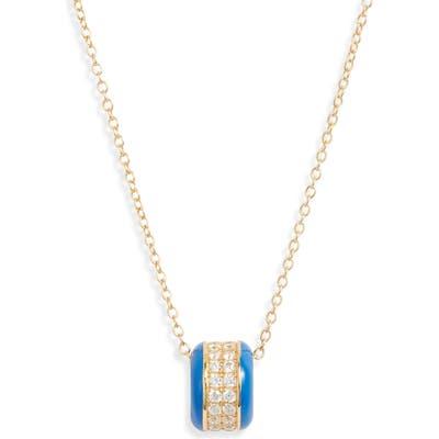Argento Vivo Pave Enamel Wheel Pendant Necklace