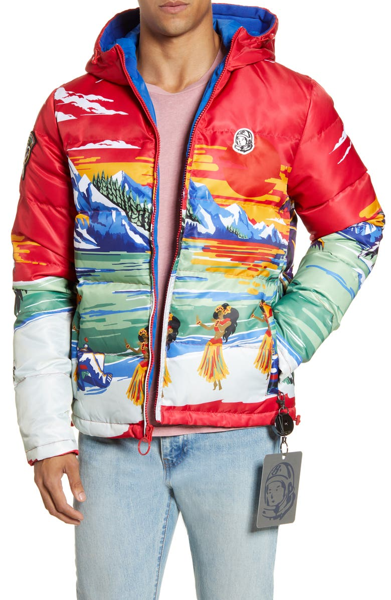 BILLIONAIRE BOYS CLUB Everestt Paradise Hooded Down Puffer Jacket, Main, color, 600