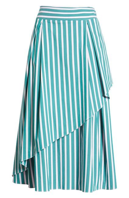 Image of Halogen X Atlantic-Pacific Stripe Asymmetrical Skirt