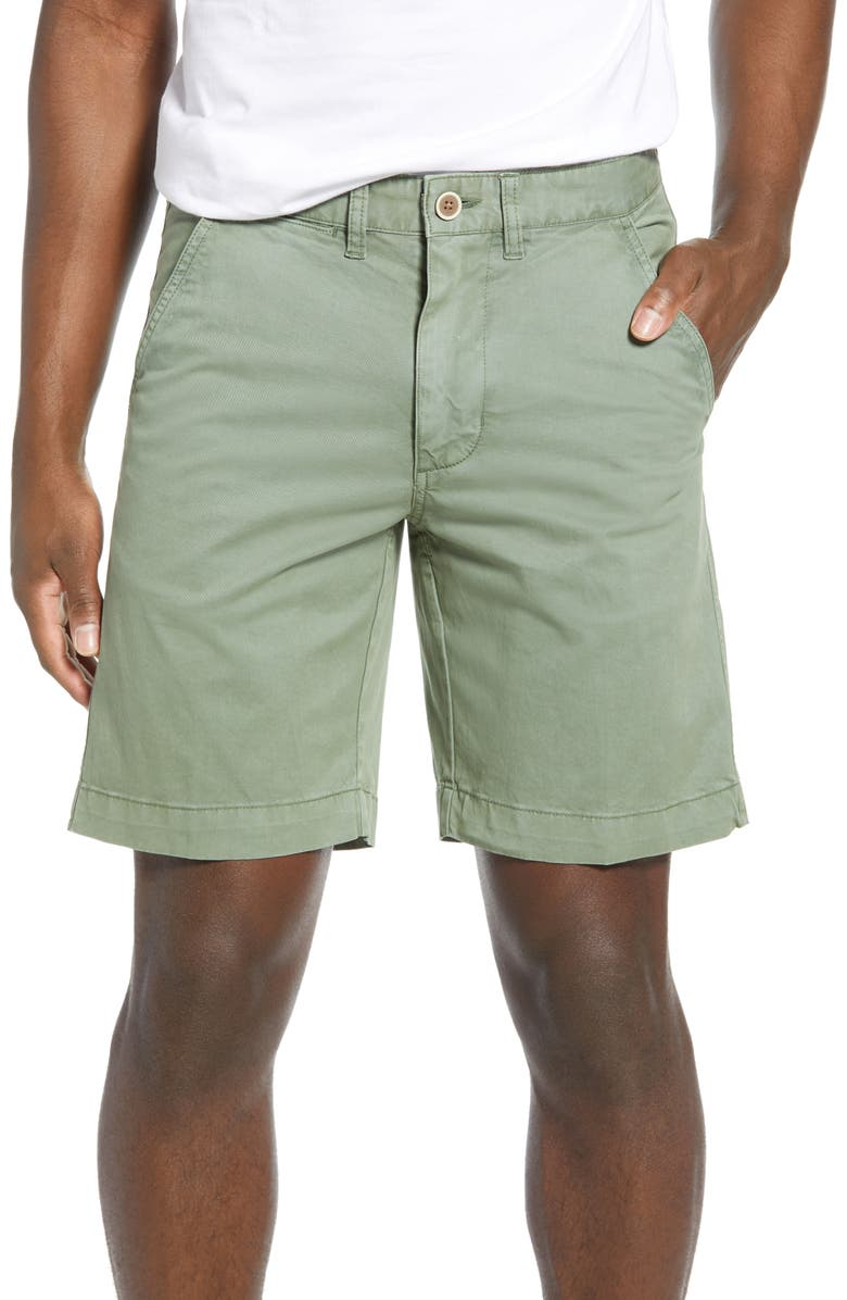 VINTAGE 1946 'Sunny' Stretch Chino Shorts, Main, color, SEA GRASS