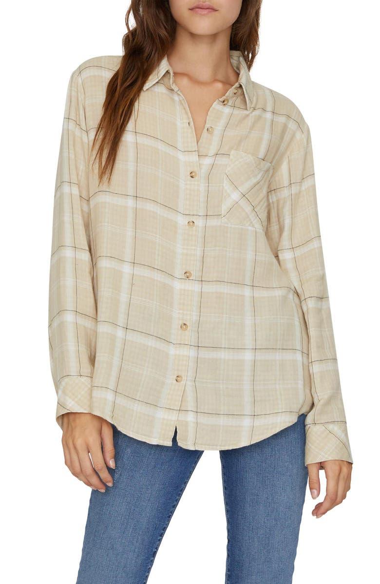 SANCTUARY Keepers Plaid Boyfriend Shirt, Main, color, 276