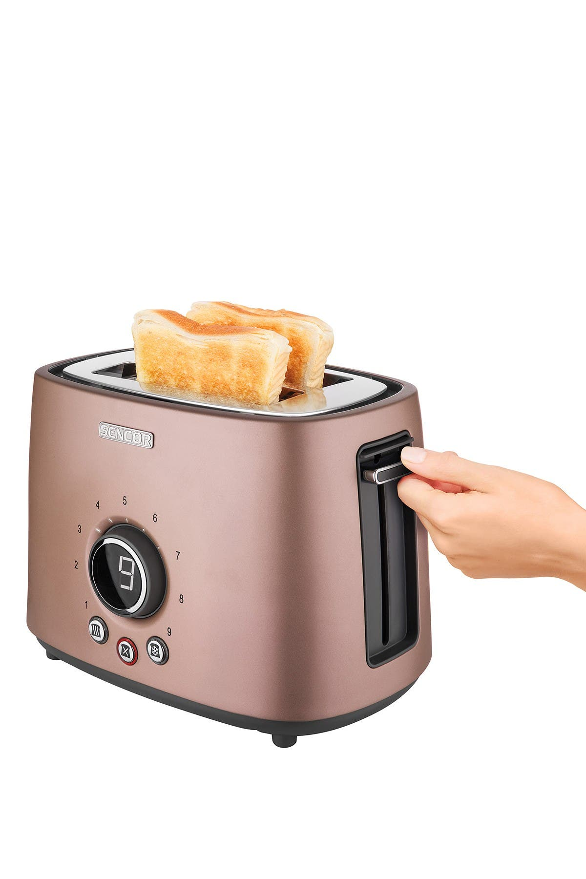 Image of SENCOR Pink Digital 2-Slot Toaster