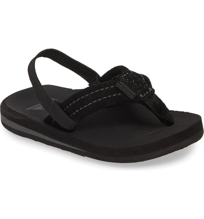 QUIKSILVER 'Carver' Suede Sandal, Main, color, SOLID BLACK