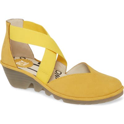 Fly London Paco Wedge, Yellow