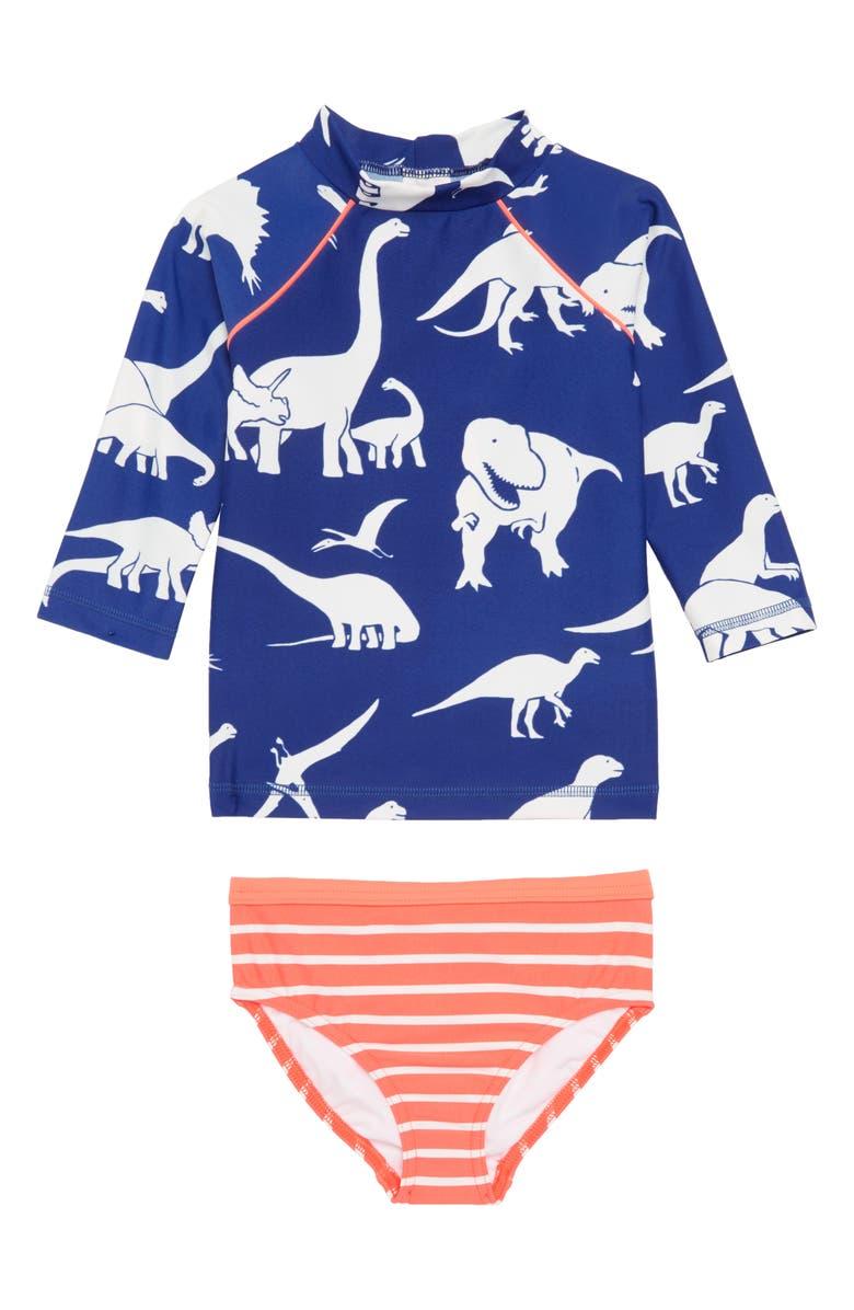 e089e310f22 Mini Boden Print Surf Set Two-Piece Rashguard Swimsuit (Toddler ...