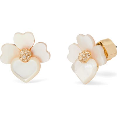 Kate Spade New York Precious Pansy Stud Earrings