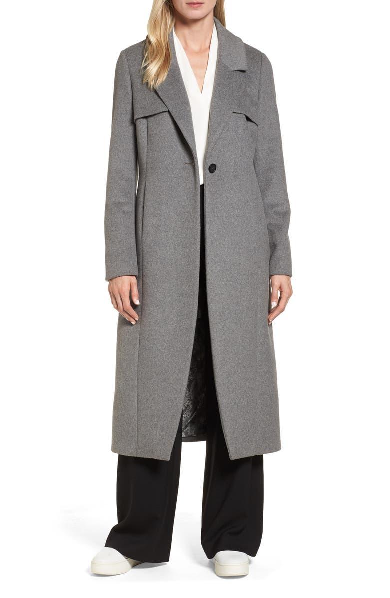 NVLT Long Coat, Main, color, Grey