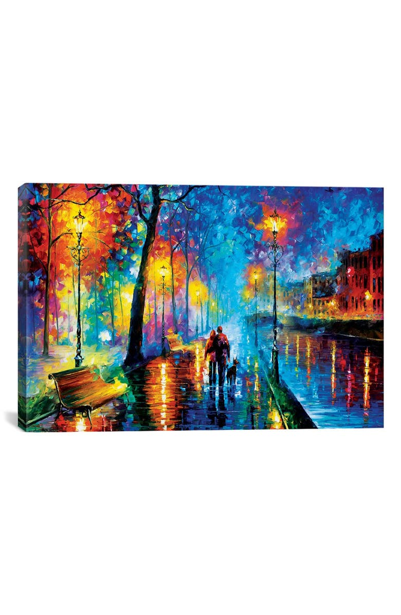 ICANVAS 'Melody of Night' Giclée Print Canvas Art, Main, color, BLUE