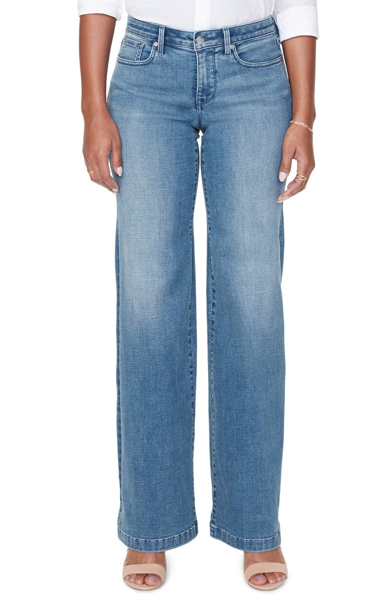 NYDJ Wide Leg Trouser Jeans, Main, color, BRICKELL