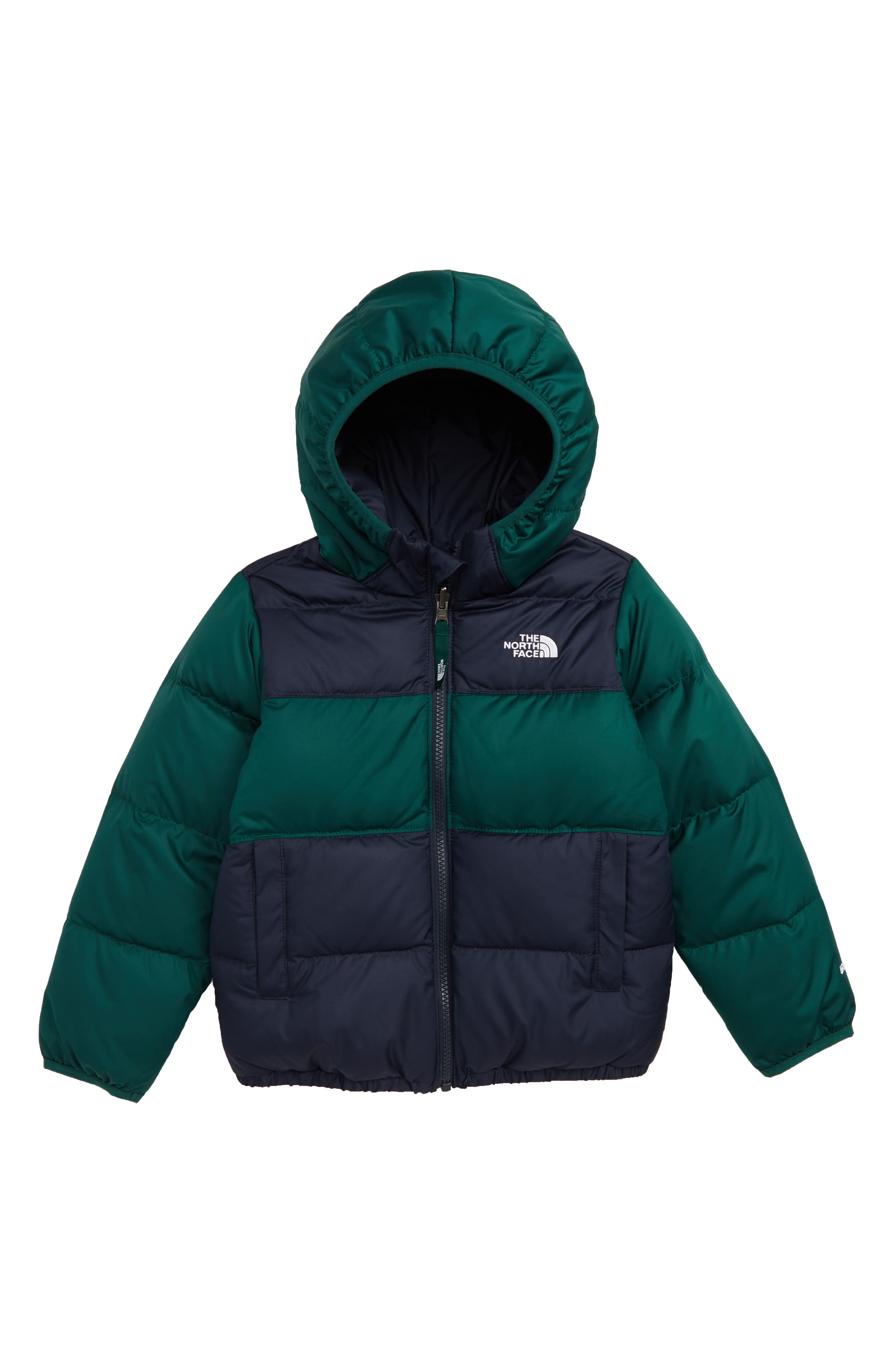 Toddler Boys The North Face Moondoggy Water Repellent Reversible Down Jacket Size 6T  Blue