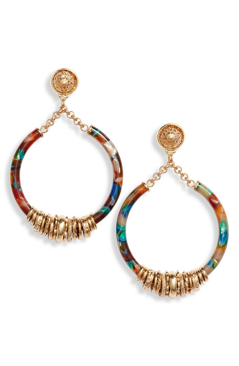GAS BIJOUX Mariza Hoop Earrings, Main, color, 710