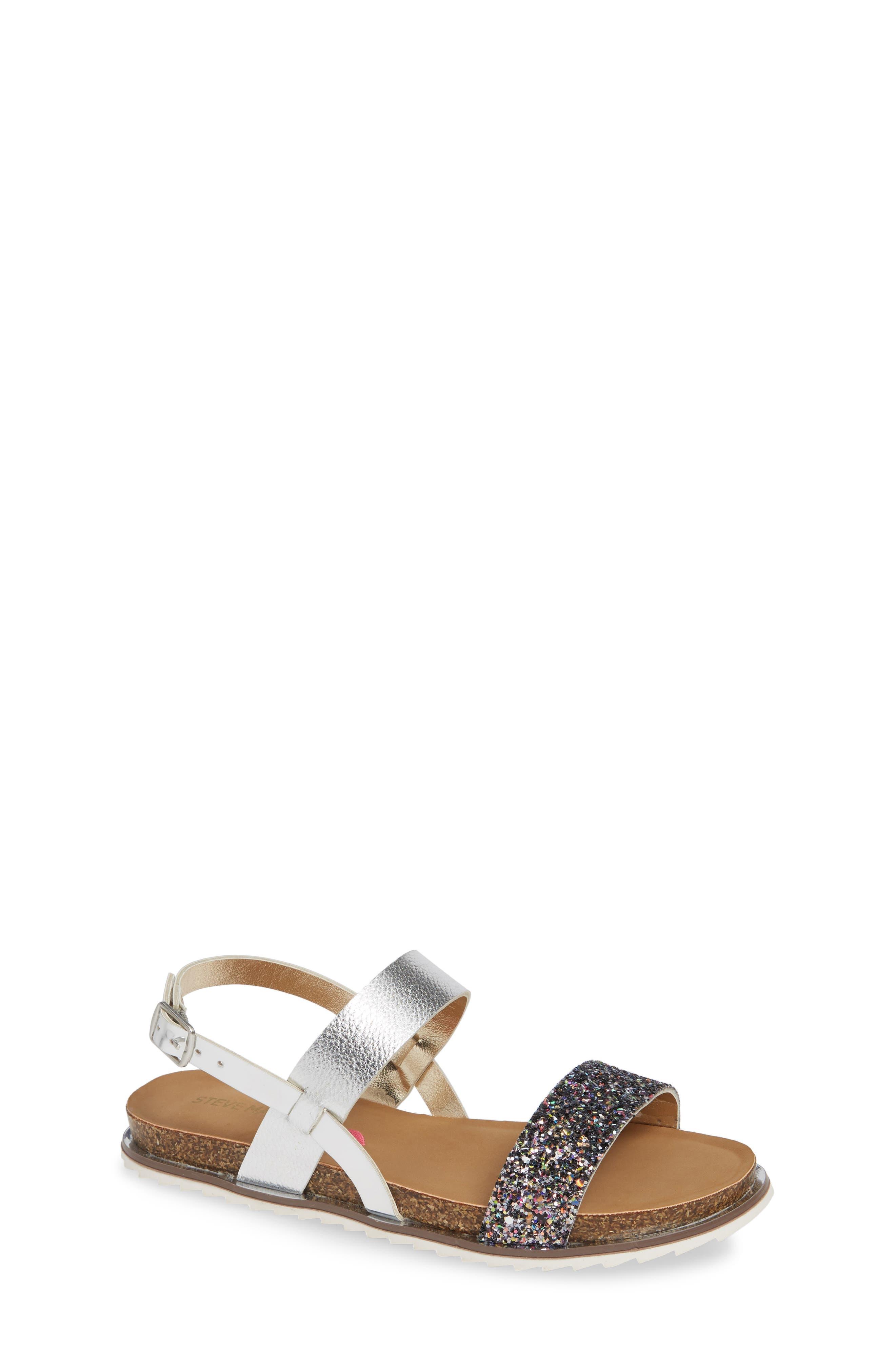 Girls Steve Madden Glitter Sandal