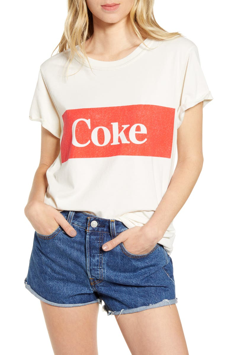 PROJECT KARMA Coke Graphic Tee, Main, color, WHITE
