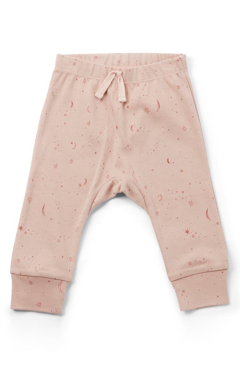PEHR Stardust Organic Cotton Pants, Main, color, DARK PINK