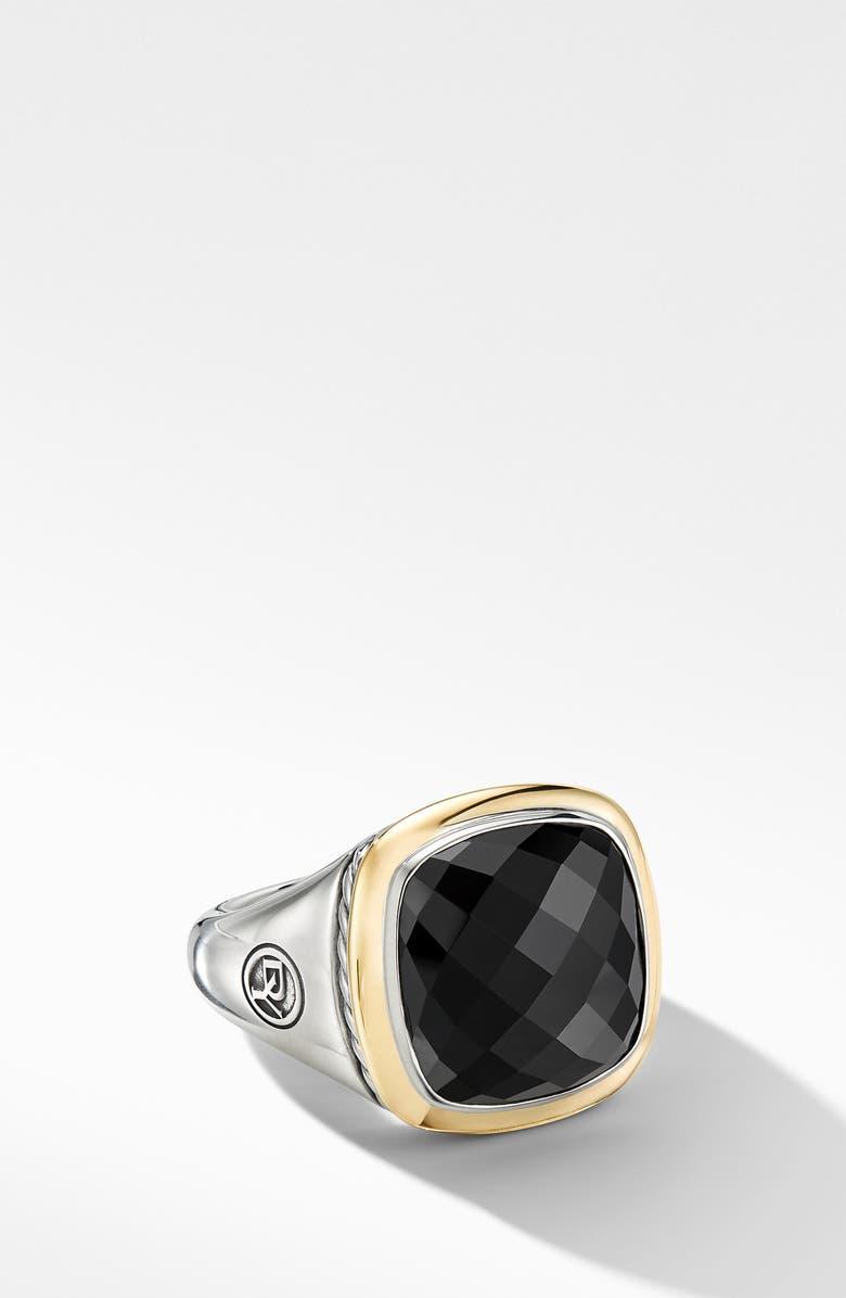 DAVID YURMAN Albion Ring with 18K Gold and Semiprecious Stone, Main, color, BLACK ONYX