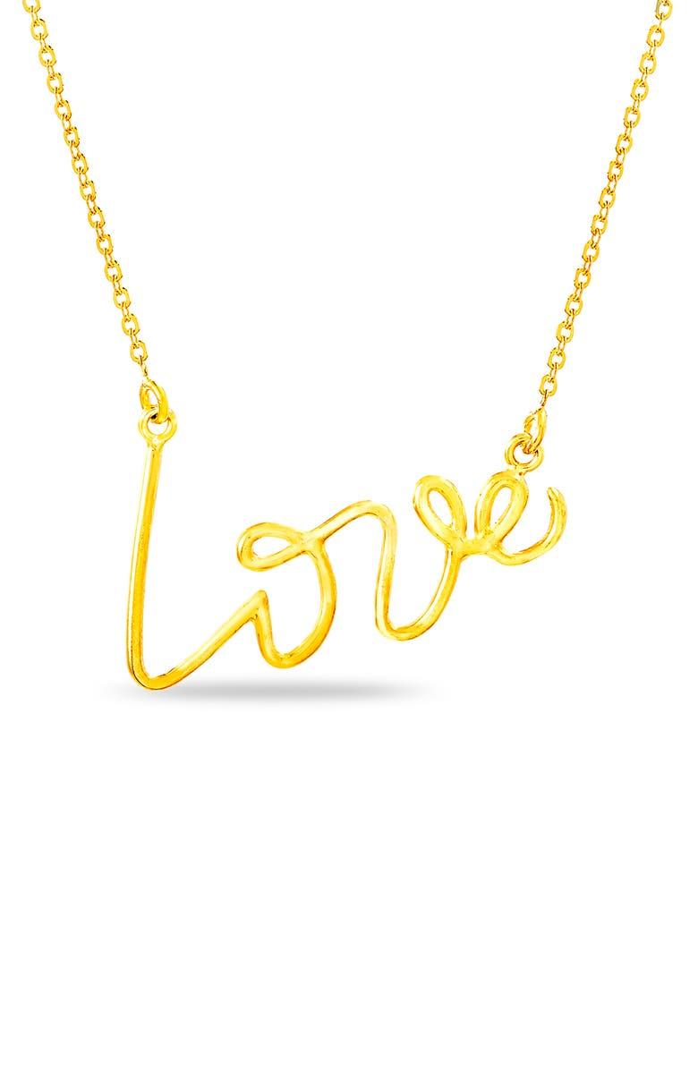 LESA MICHELE Love Necklace, Main, color, YELLOW GOLD