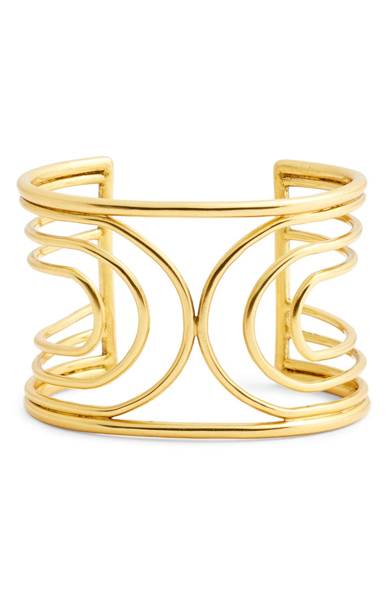 SOLE SOCIETY Wide Cuff Bracelet, Main, color, 710