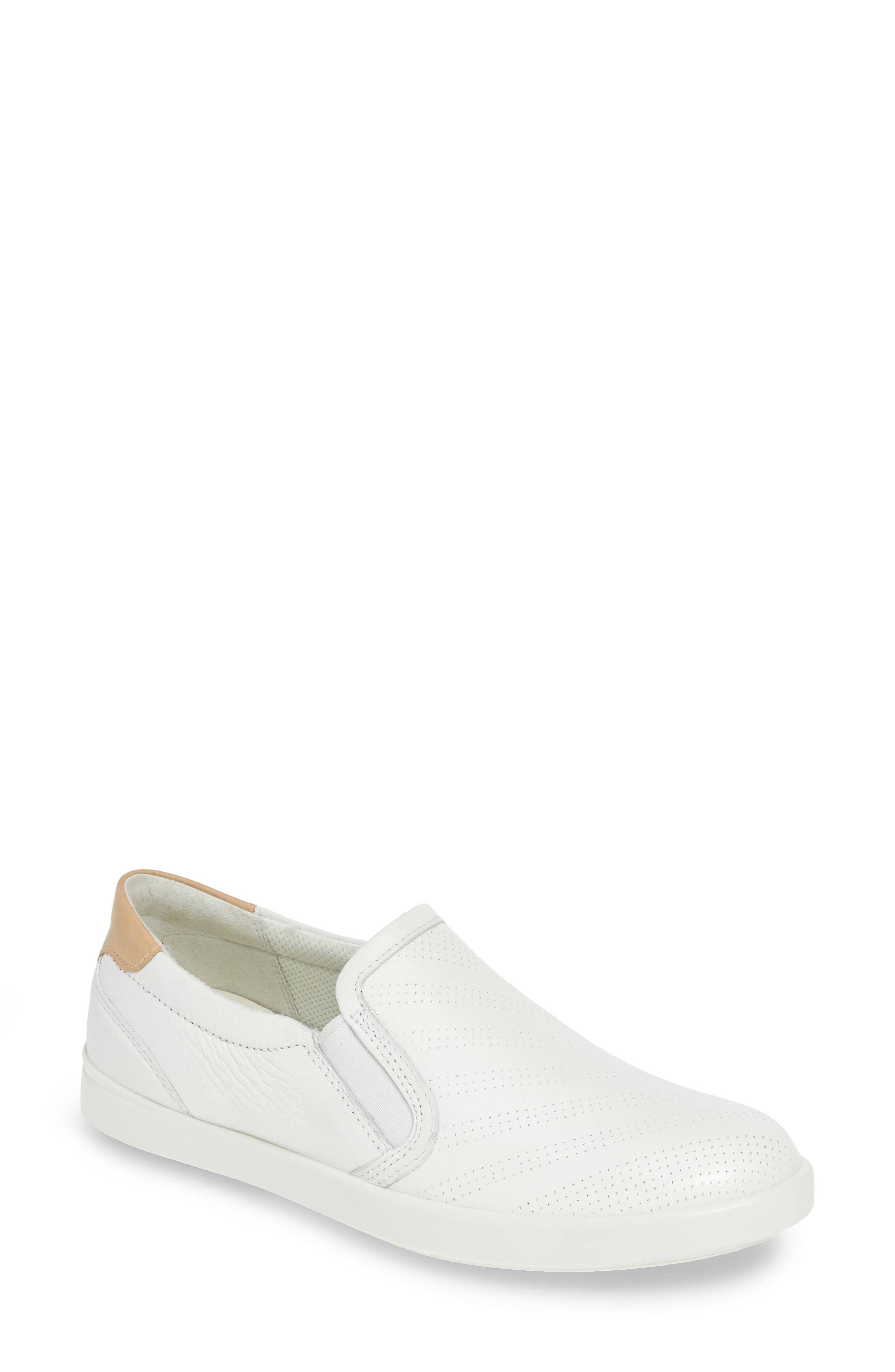 Ecco Leisure Slip-On Sneaker, White
