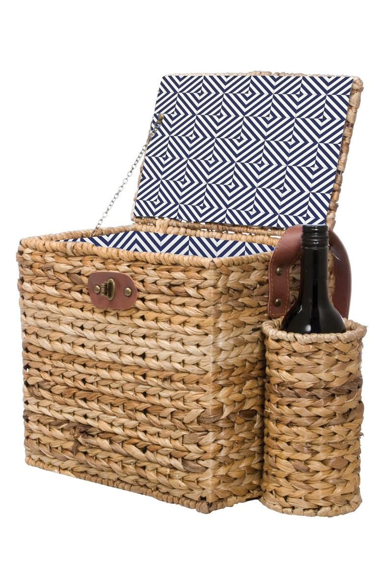 SUNNYLIFE Wicker Picnic Basket, Main, color, 200