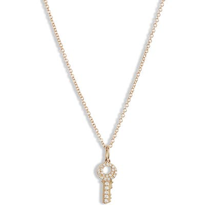 Ef Collection Mini Diamond Key Pendant Necklace