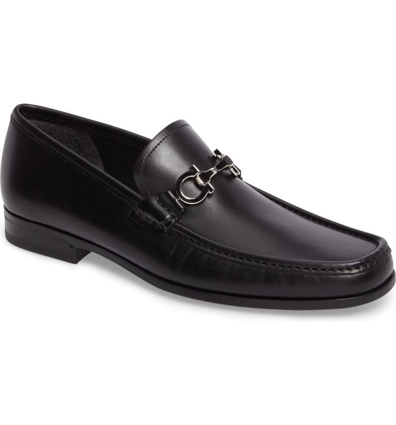 SALVATORE FERRAGAMO Chris Bit Loafer, Main, color, NERO