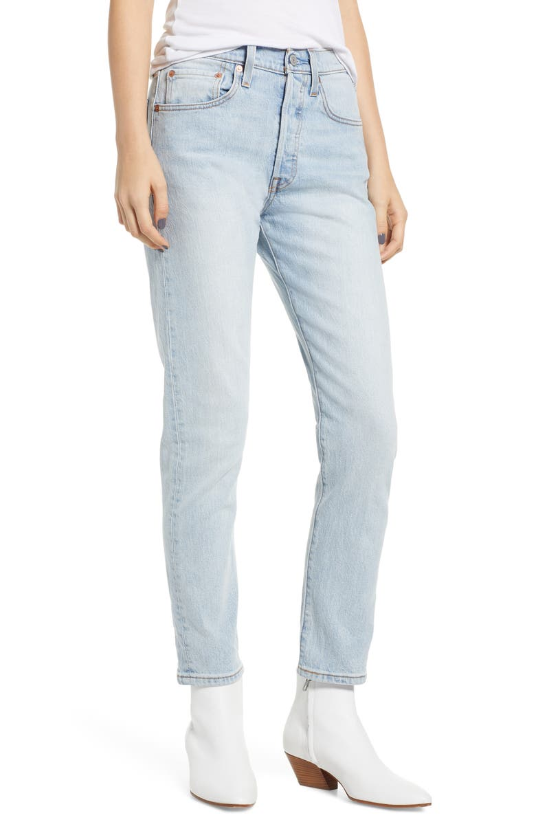 LEVI'S<SUP>®</SUP> 501<sup>®</sup> Ankle Slim Jeans, Main, color, 450