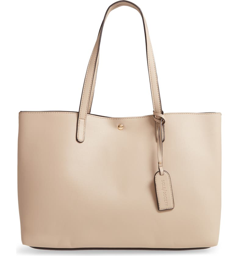 SOLE SOCIETY Zeda Faux Leather Tote, Main, color, 250