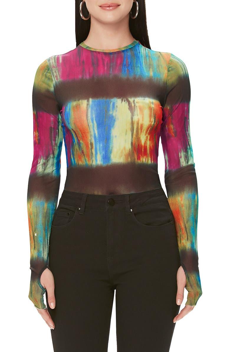 AFRM Camden Bodysuit, Main, color, NEUTRAL TIE DYE
